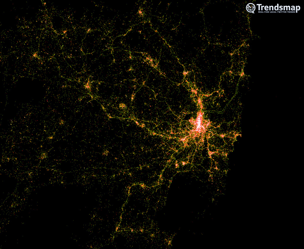 Amazing Twitter Visualisations of Sydney and Amsterdam