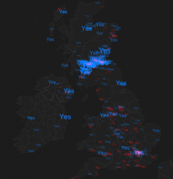 The tale of a trend: 270,000 views of our #IndyRef visualisation