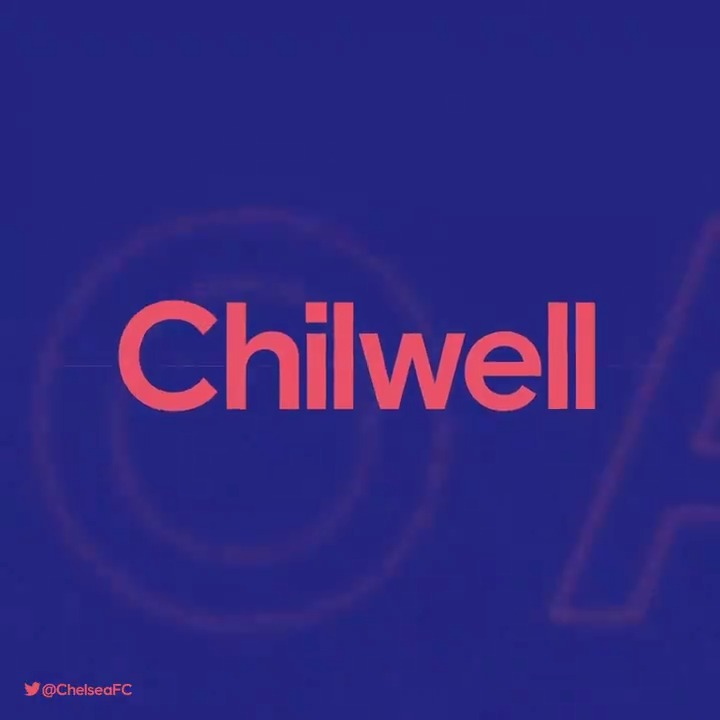 """Chelsea FC's tweet - """"CHILWELL MAKES IT TWO!!! 🔥🔥 🔵 0-2 ..."""